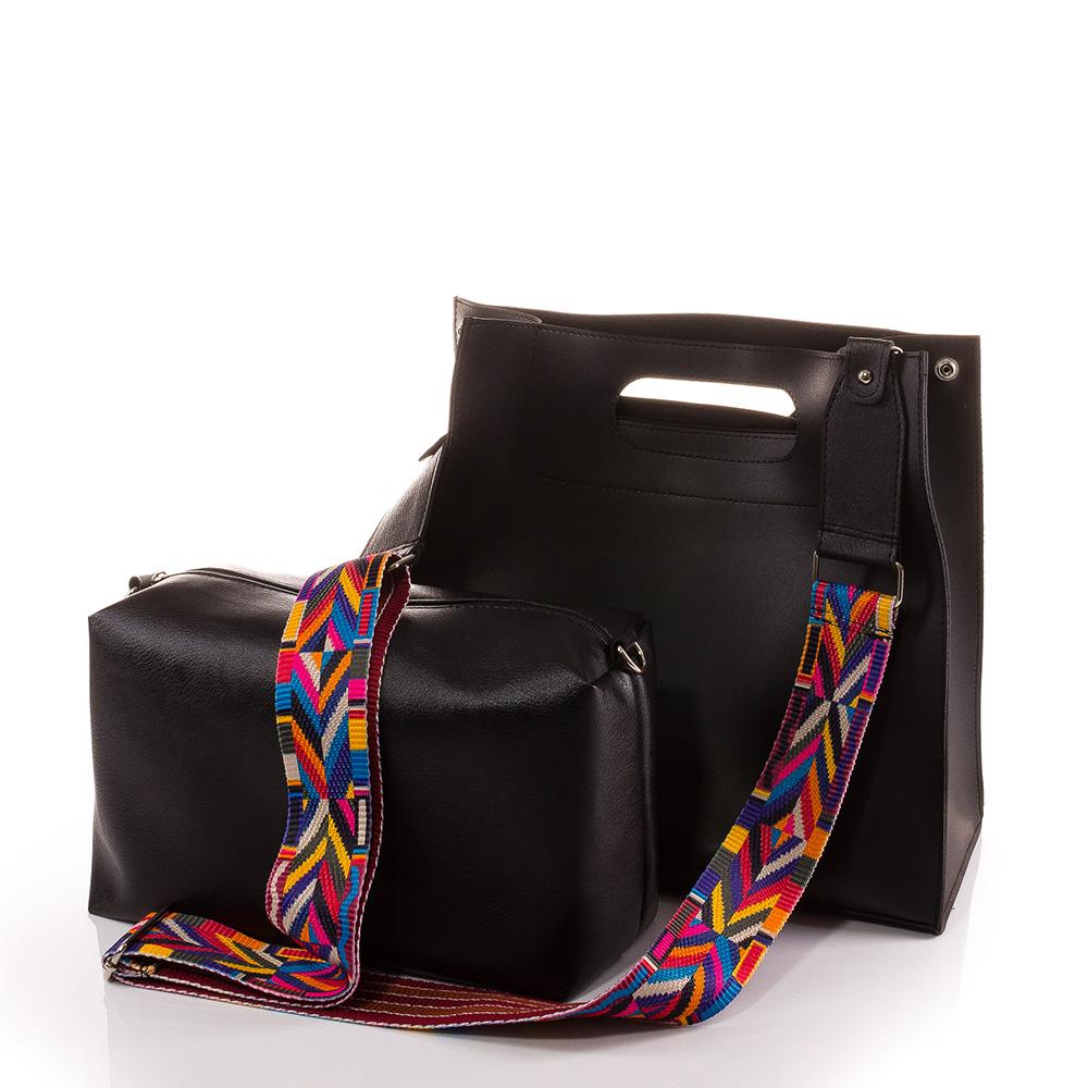 Дамска чанта 2 в 1 Дивна 1545-08 - Черна