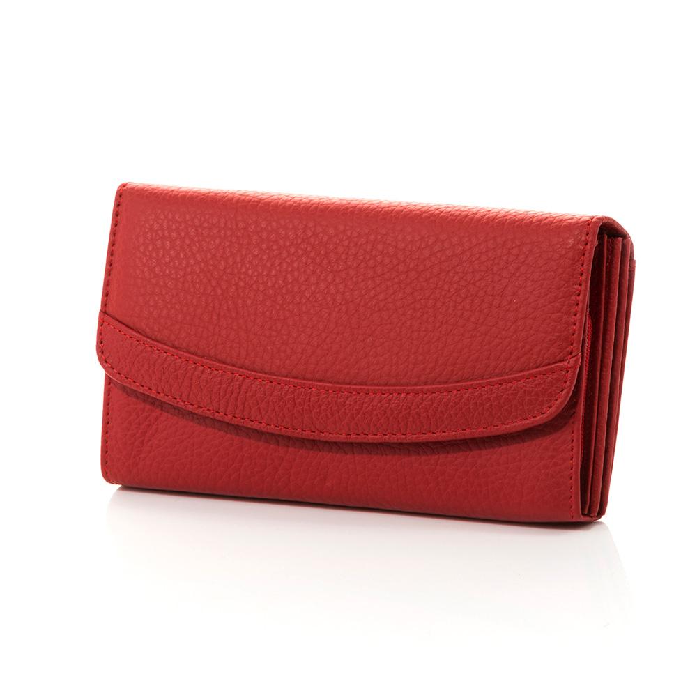 Дамско Портмоне Естествена Кожа A1025-05 - Червено