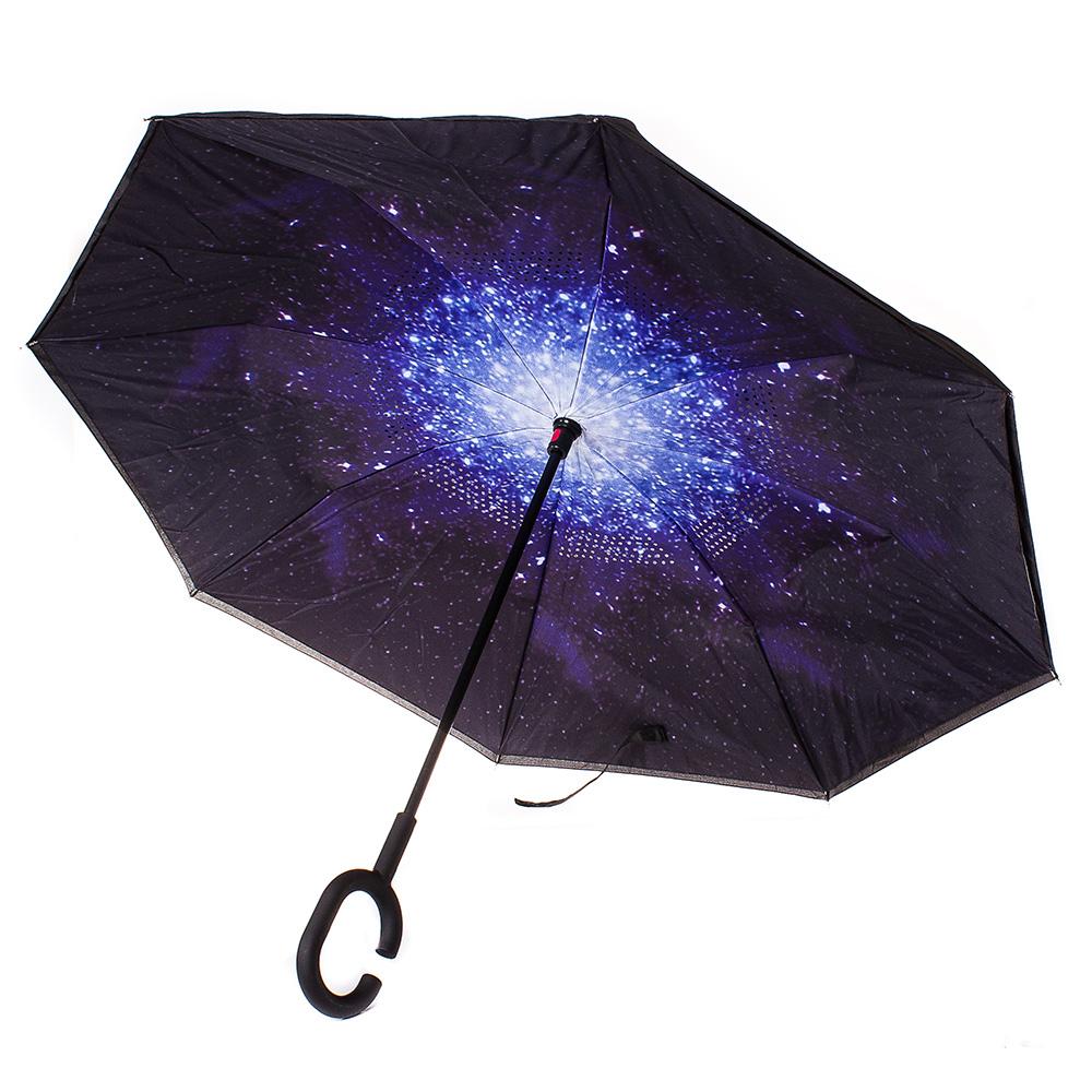 Обърнат дамски чадър, Двупластов U1004-00 - Цветен