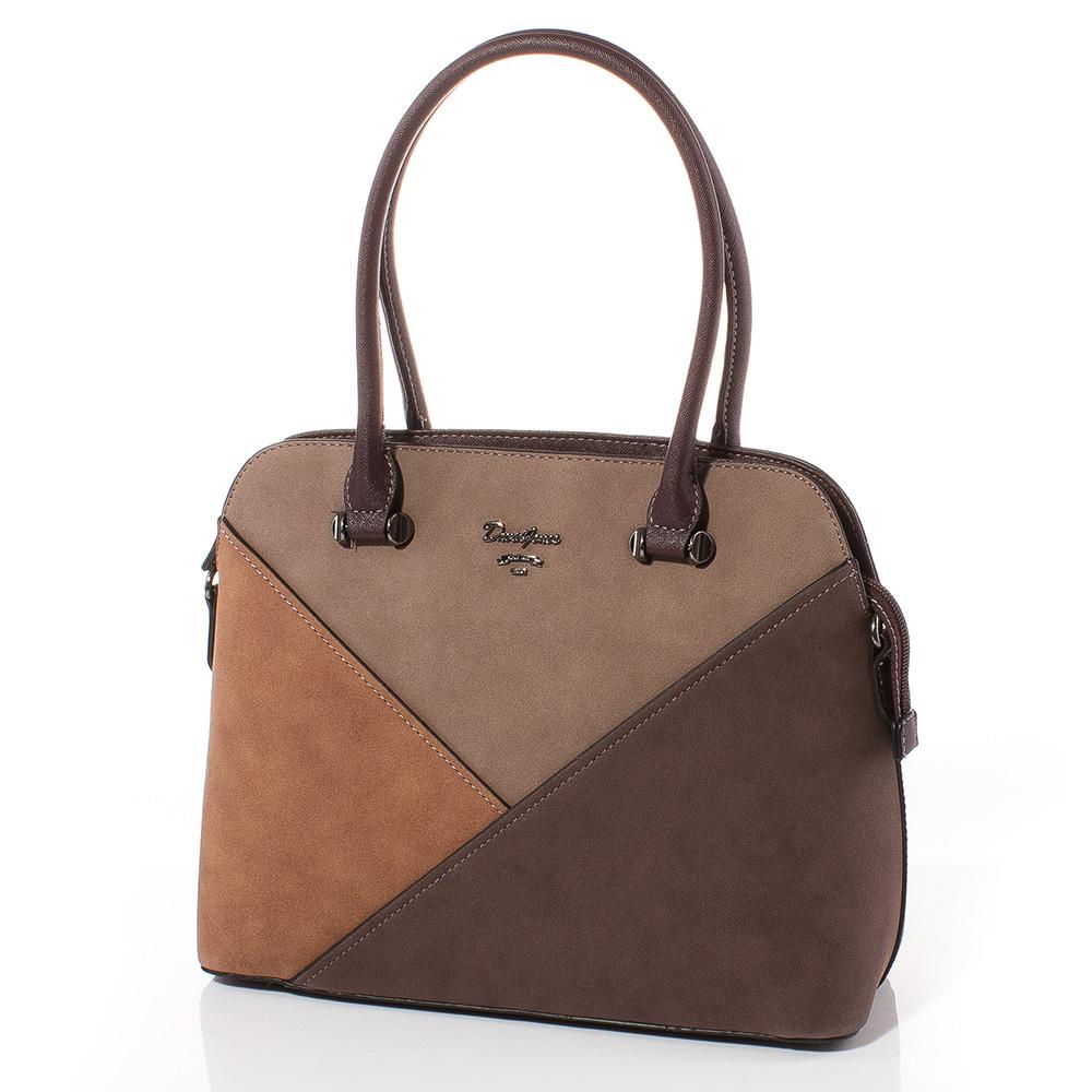 Дамска чанта David Jones 5833-115 - Тъмнокафява