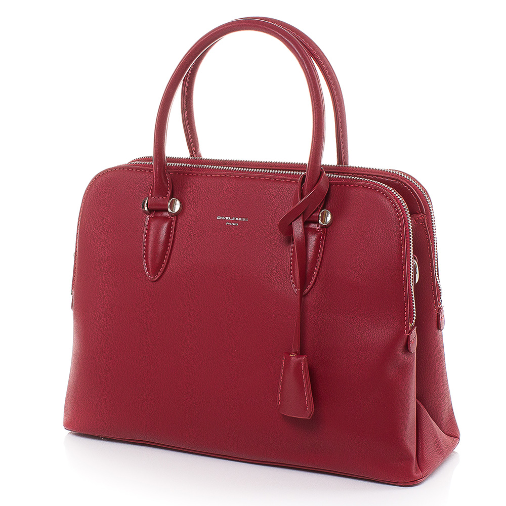 Дамска чанта David Jones 6207-240 - Тъмночервена