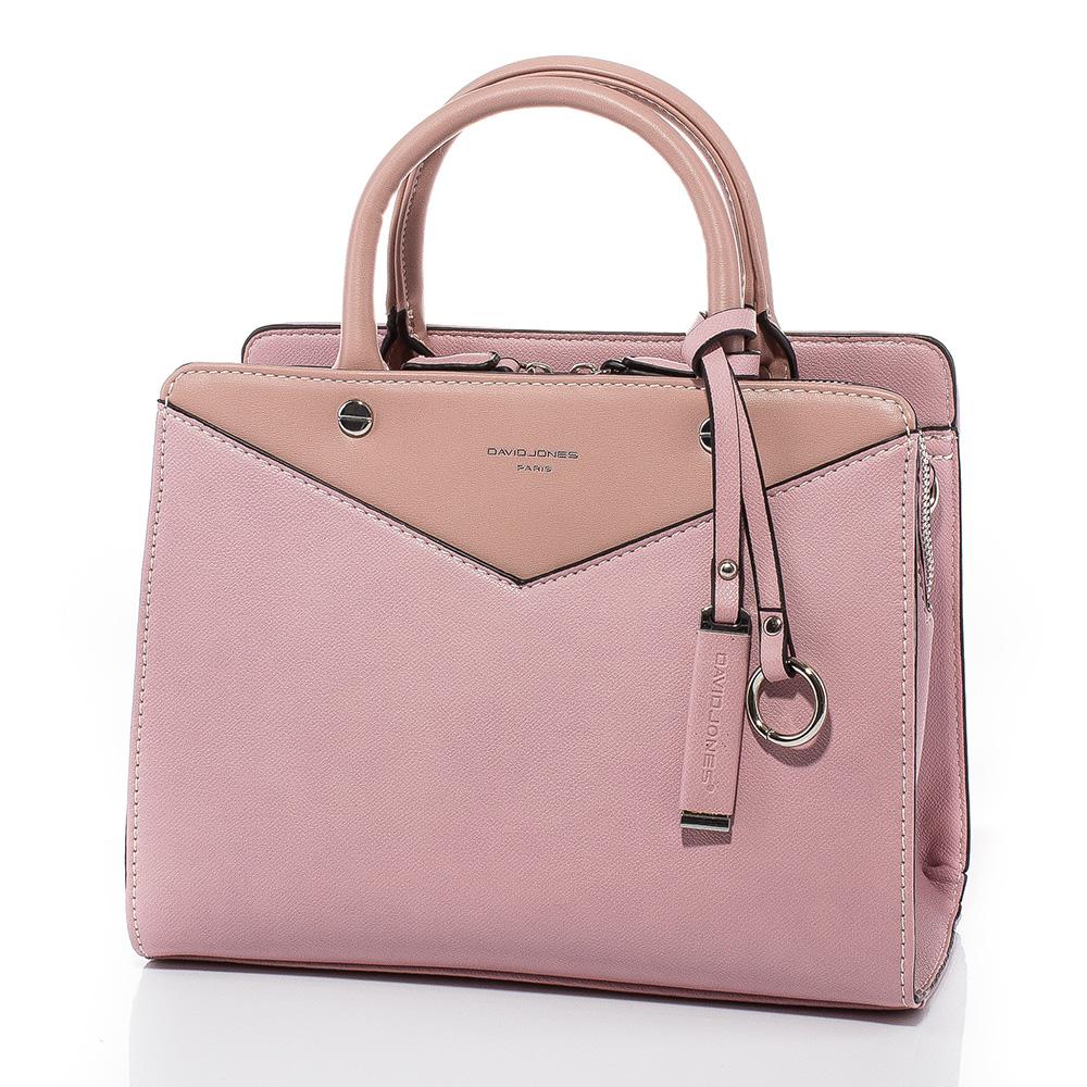 Дамска чанта през рамо David Jones CM5100-45 - Тъмнорозова