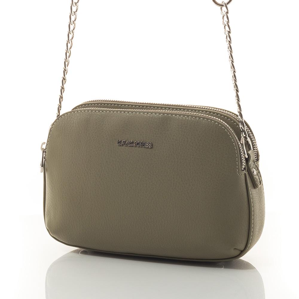 Дамска Чанта През Рамо David Jones 5740-242 - Тъмно зелена