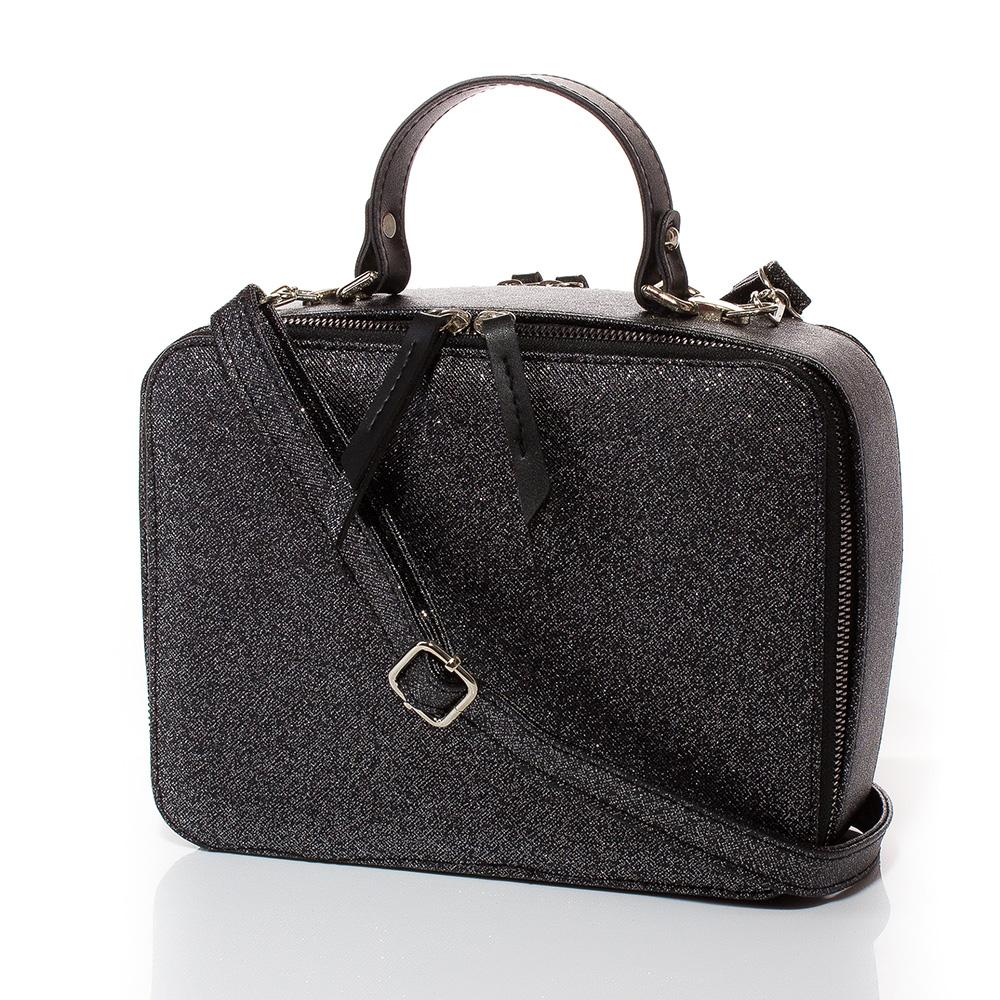 Дамска чанта През Рамо Ясмина 1584-47 - Тъмно сребро