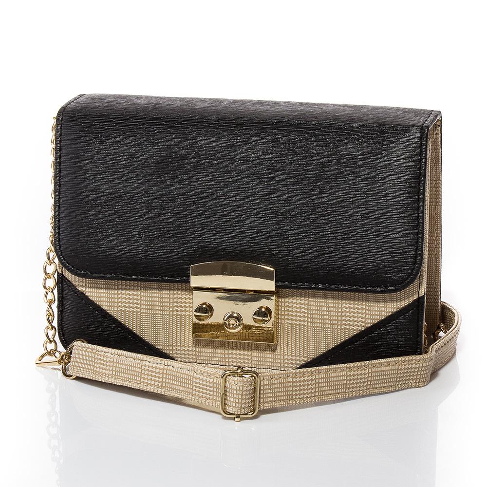 Дамска чанта През Рамо Жасмин 1585-08 - Черна
