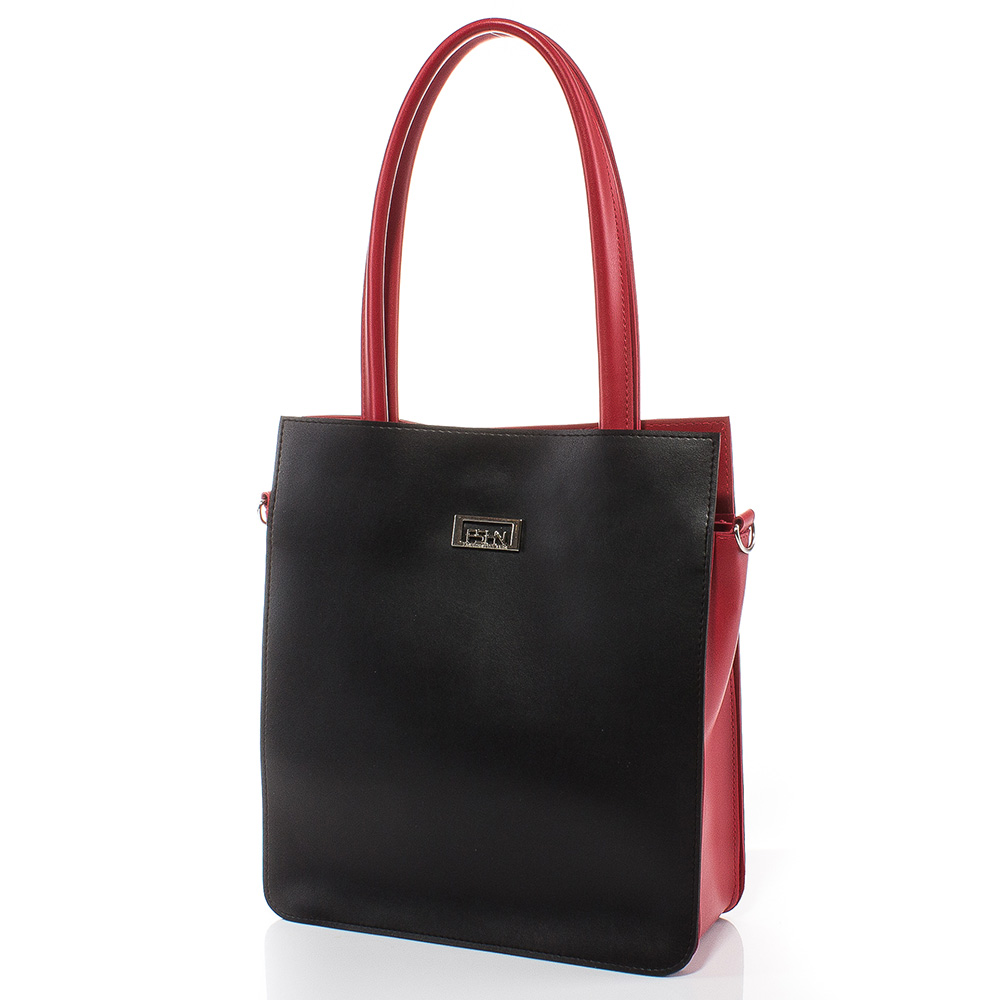 Дамска чанта Искра 1579-0805 - Черен/Червен