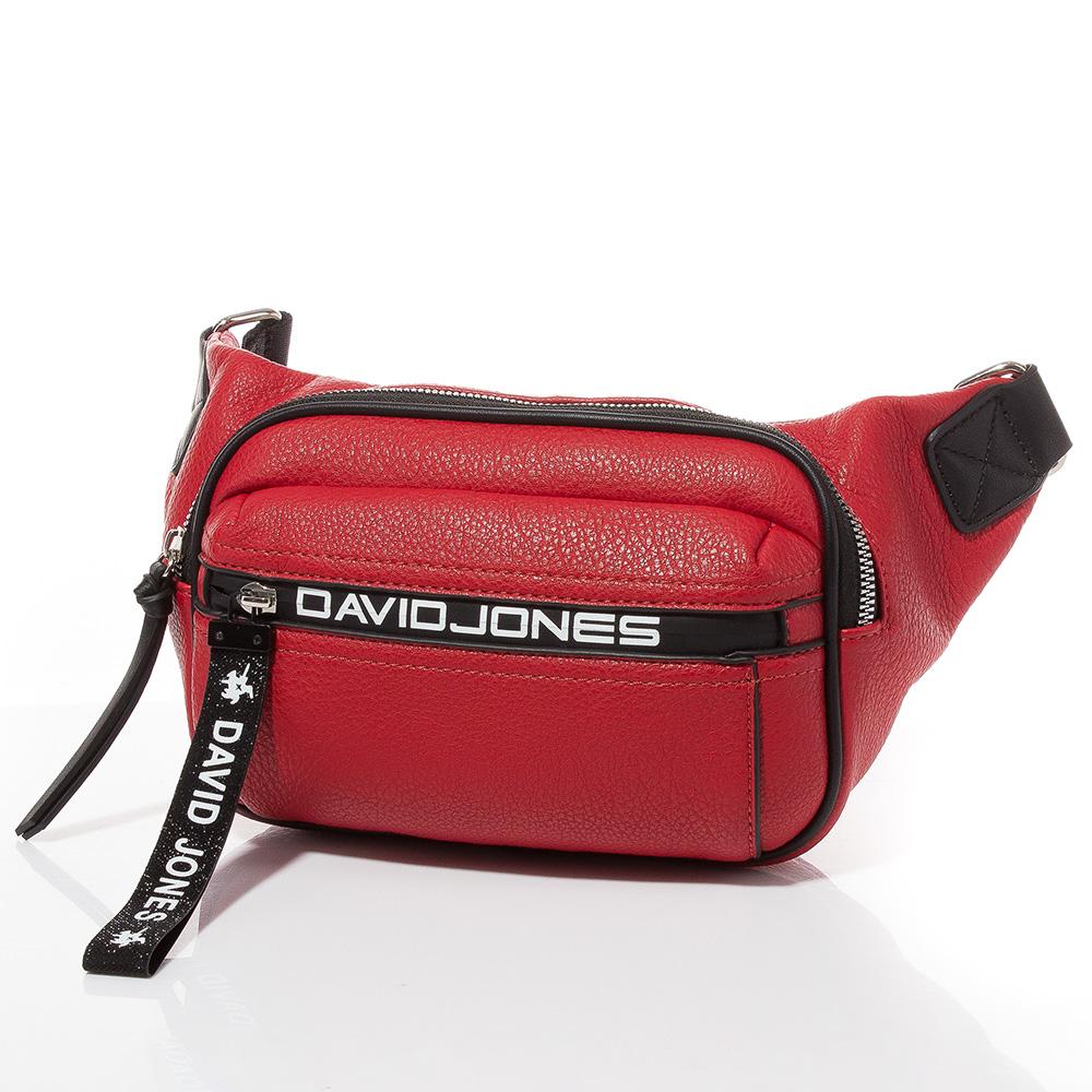 Дамска чанта за кръст/рамо David Jones 6166-105 - Червена
