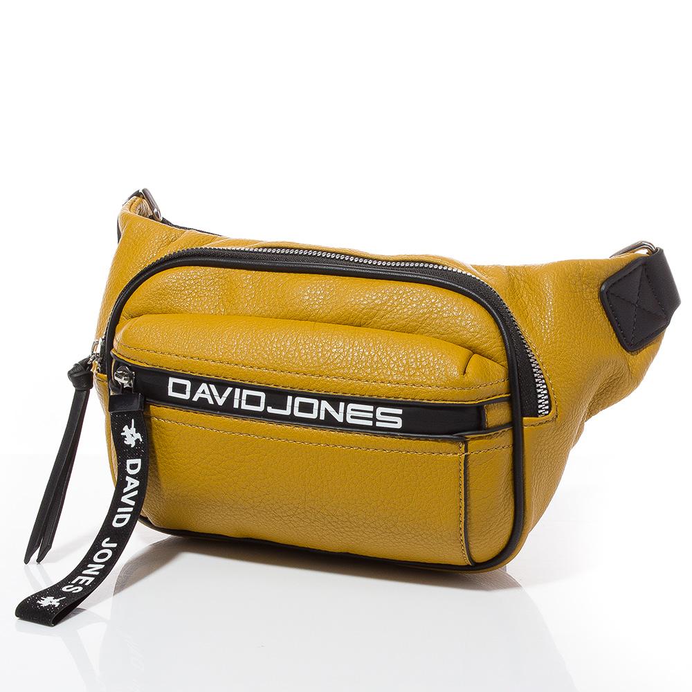 Дамска чанта за кръст/рамо David Jones 6166-149 - Горчица