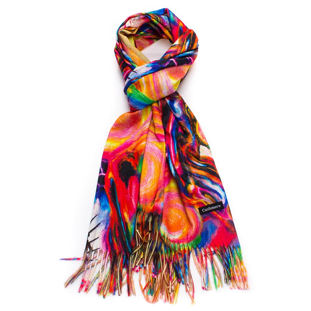 Дамски Шал Кашмир G1042-00 - Цветен