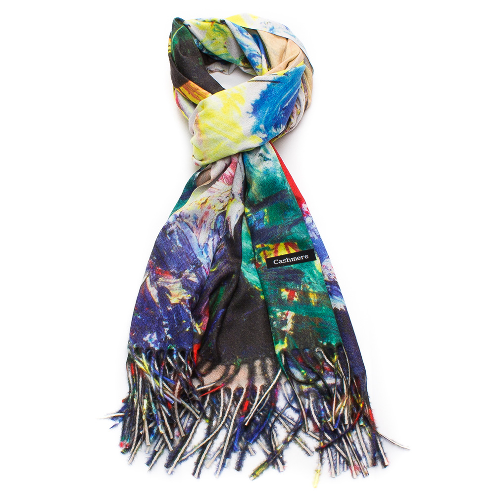 Дамски Шал Кашмир G1045-005 - Цветен