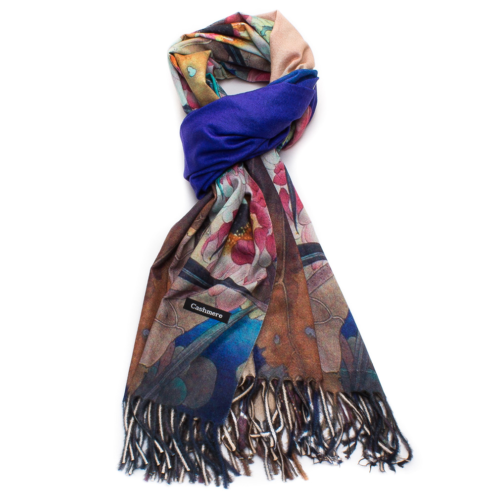 Дамски Шал Кашмир G1045-009 - Цветен