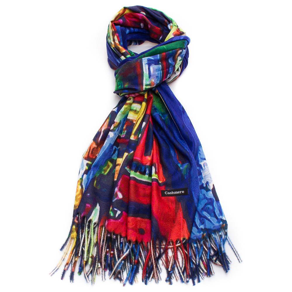 Дамски Шал Кашмир G1045-0012 - Цветен