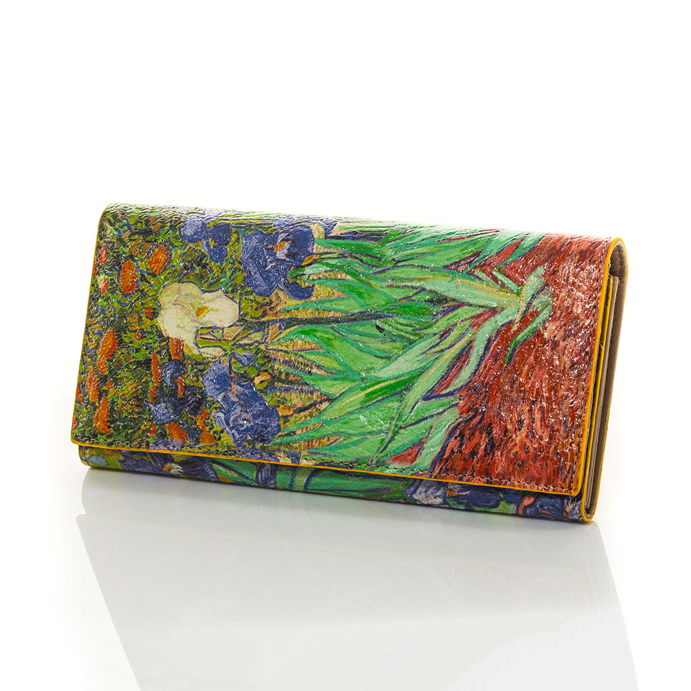 Дамско Портмоне Естествена Кожа A1024-00 - Цветно
