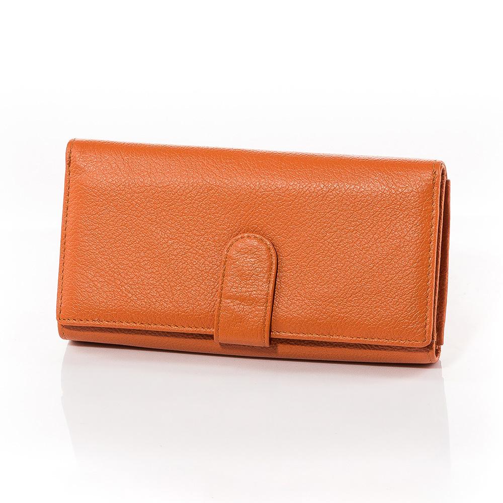 Дамско Портмоне Естествена Кожа A1017-14 - Оранжево