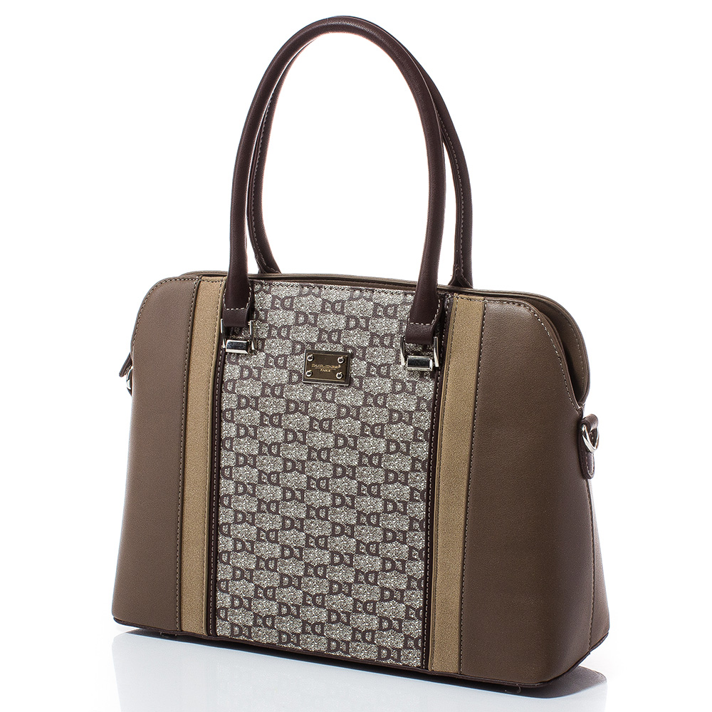 Дамска чанта David Jones 6122-148 - Тъмен камел