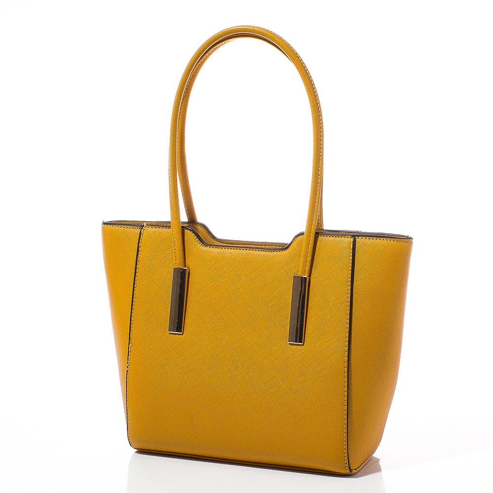 Дамска чанта Лорен Малка 1607S-49 - Горччица