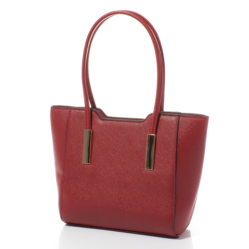 Дамска чанта Лорен Малка 1607S-40 - Тъмночервена