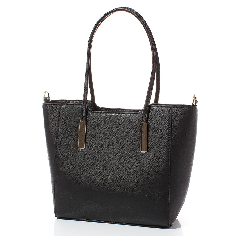 Дамска чанта Лорен Средна 1607M-08 - Черна