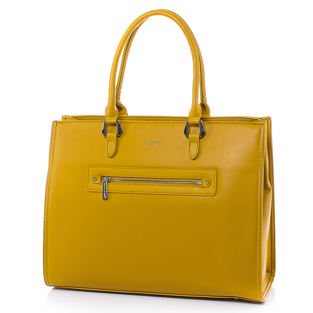 Дамска чанта David Jones CM5996-49 - Горчица