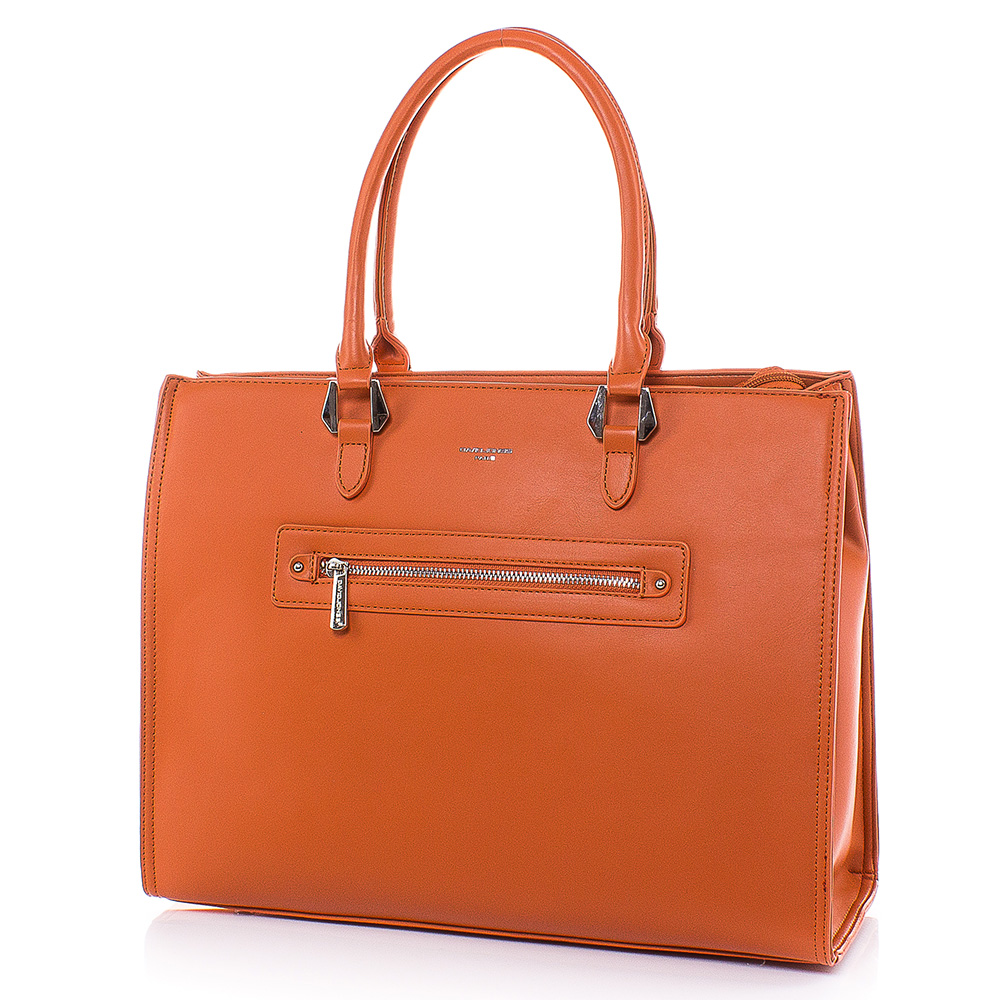 Дамска чанта David Jones CM5996-14 - Оранжева