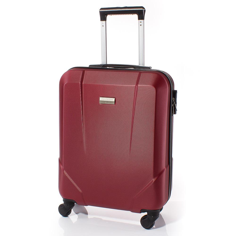Куфар за ръчен багаж 54/37/20 с колелца 360° T1001-40 - Тъмно червен