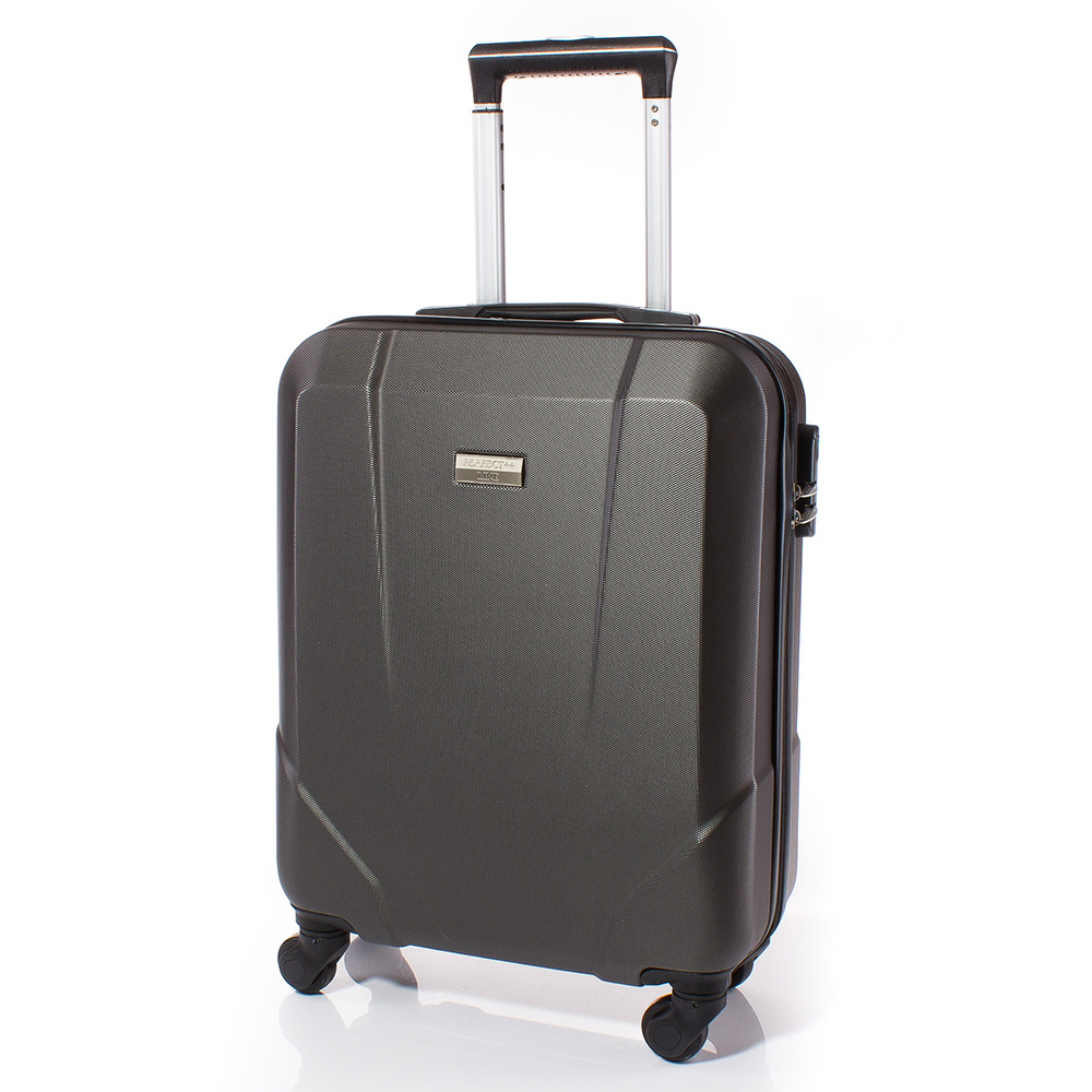 Куфар за ръчен багаж 54/37/20 с колелца 360° T1001-34 - Тъмно сив