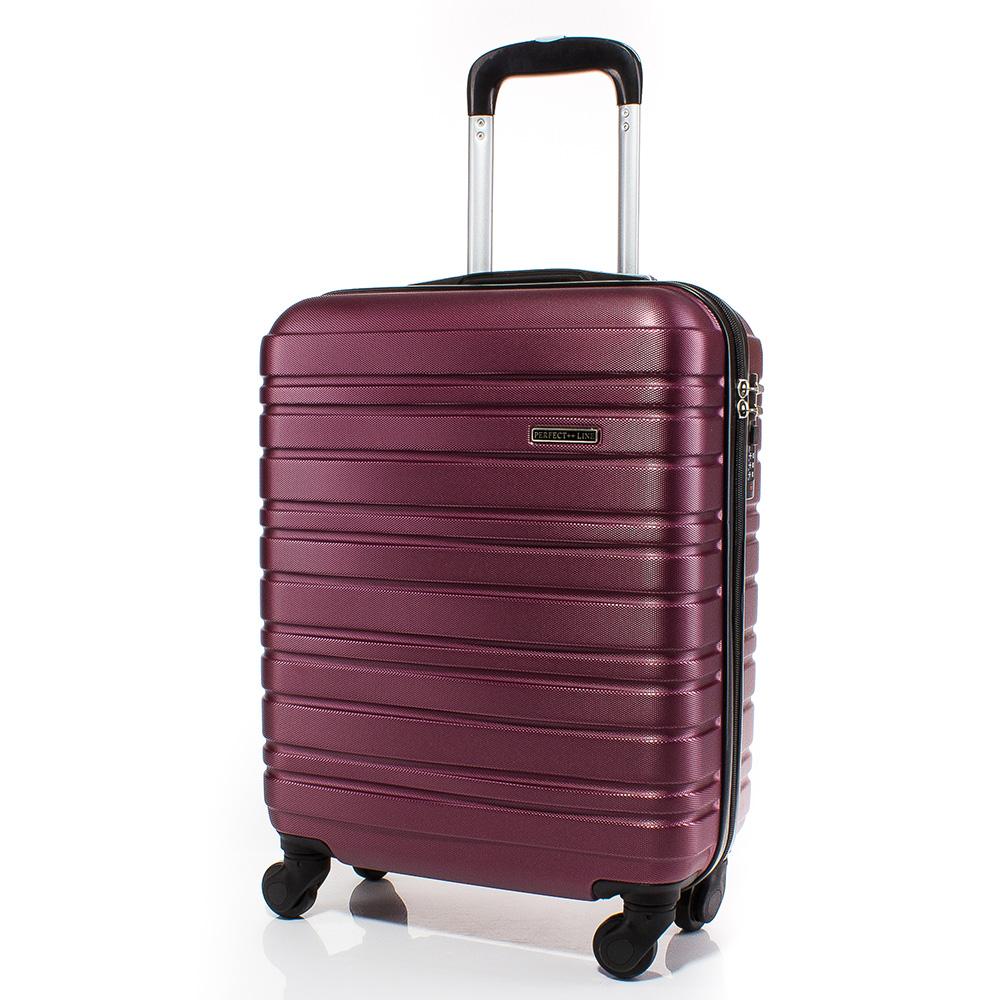 Куфар за ръчен багаж 54/39/20 с колелца 360° T1002-23 - Бордо