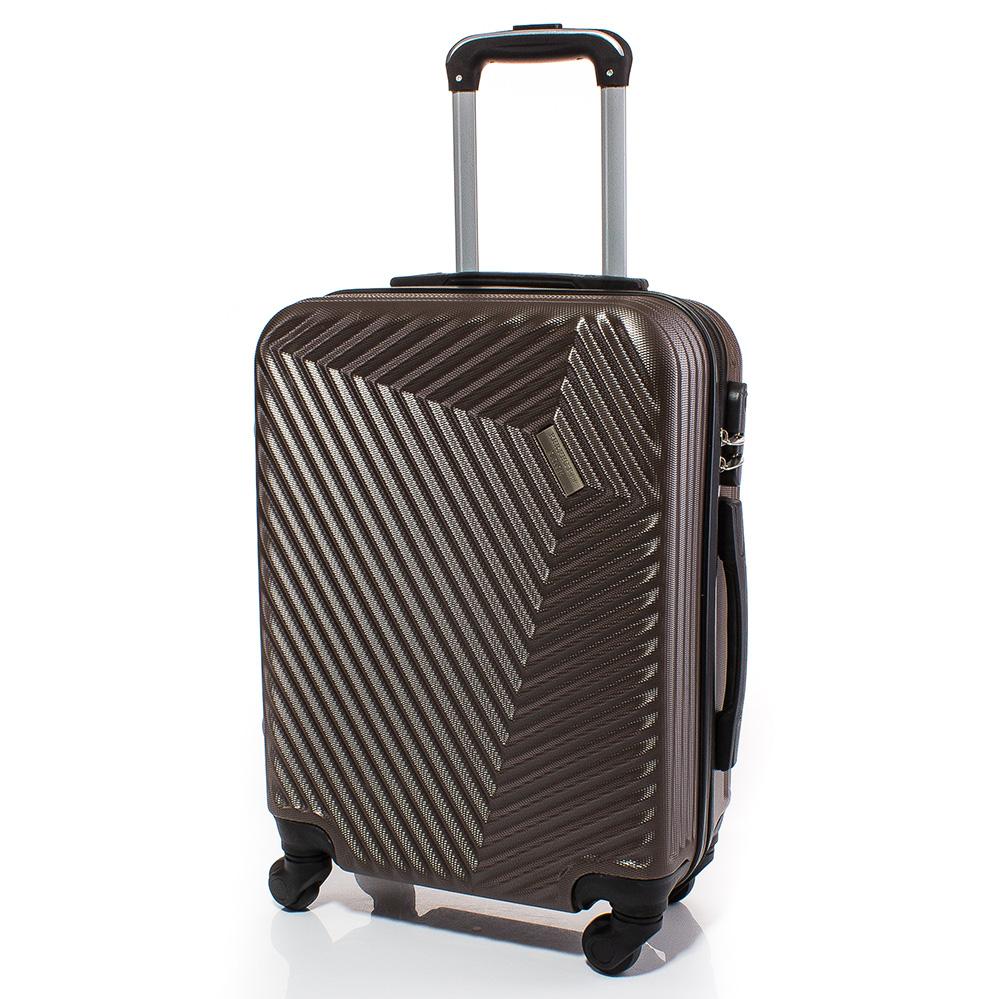 Куфар за ръчен багаж 54/39/20 с колелца 360° T1002-27 - Кафе