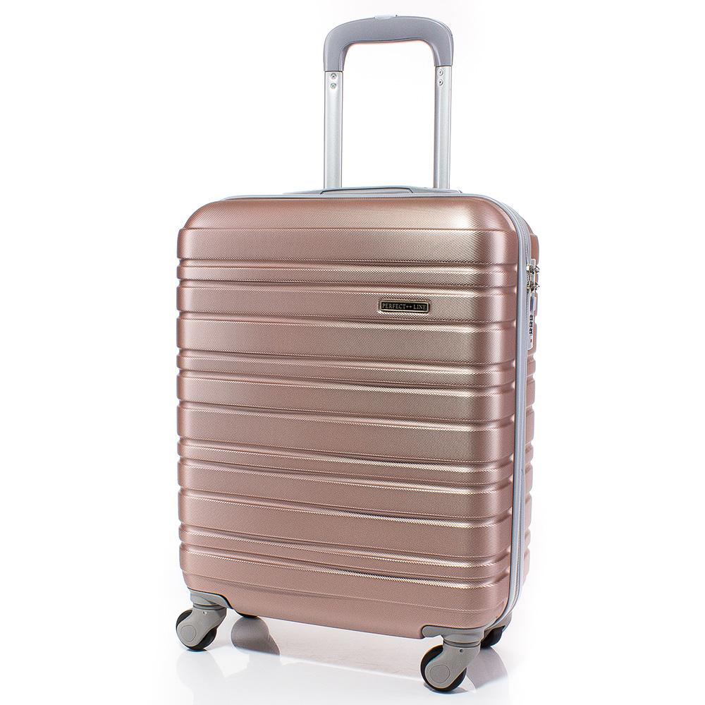 Куфар за ръчен багаж 54/37/20 с колелца 360° T1003-07 - Розов