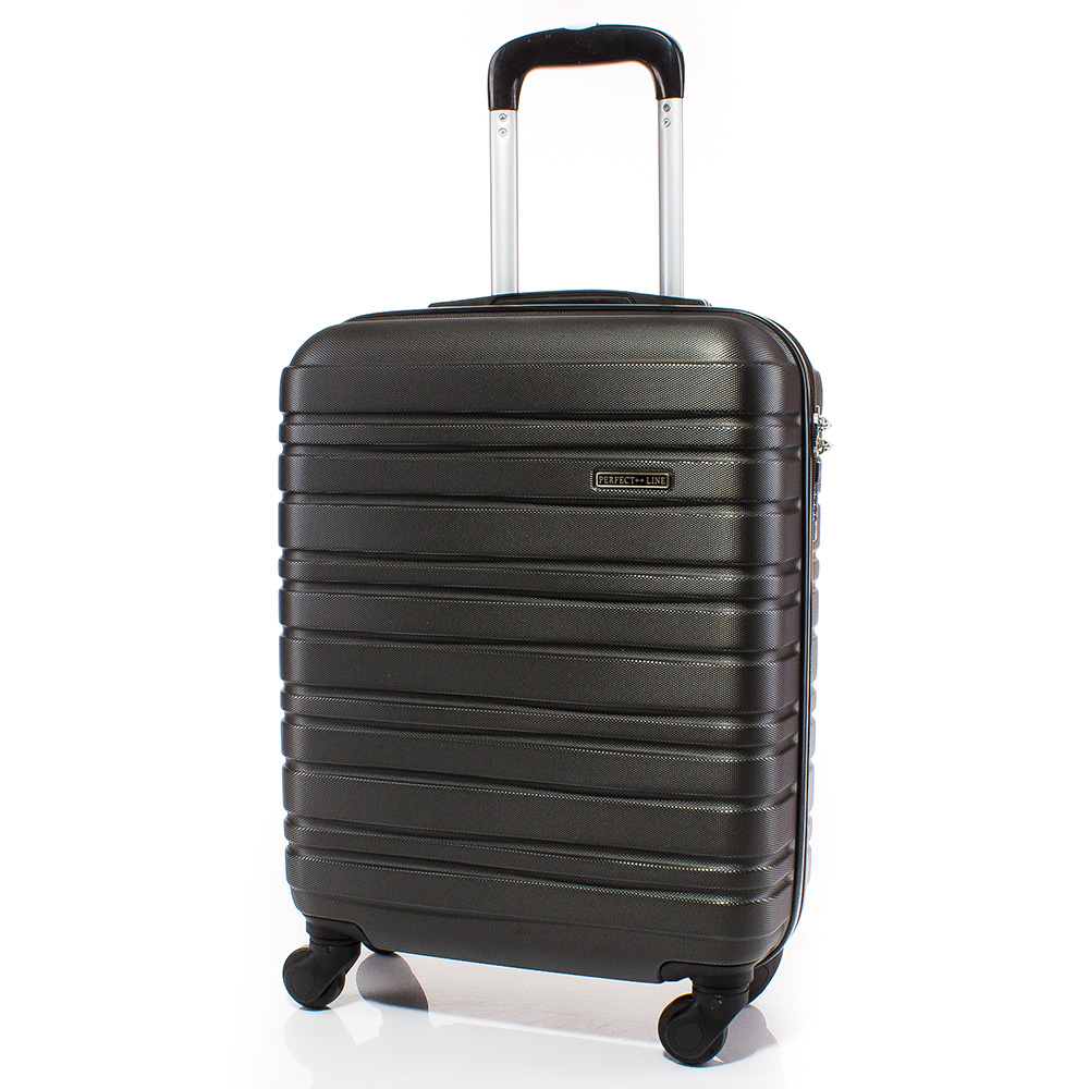 Куфар за ръчен багаж 54/37/20 с колелца 360° T1003-34 - Тъмносив