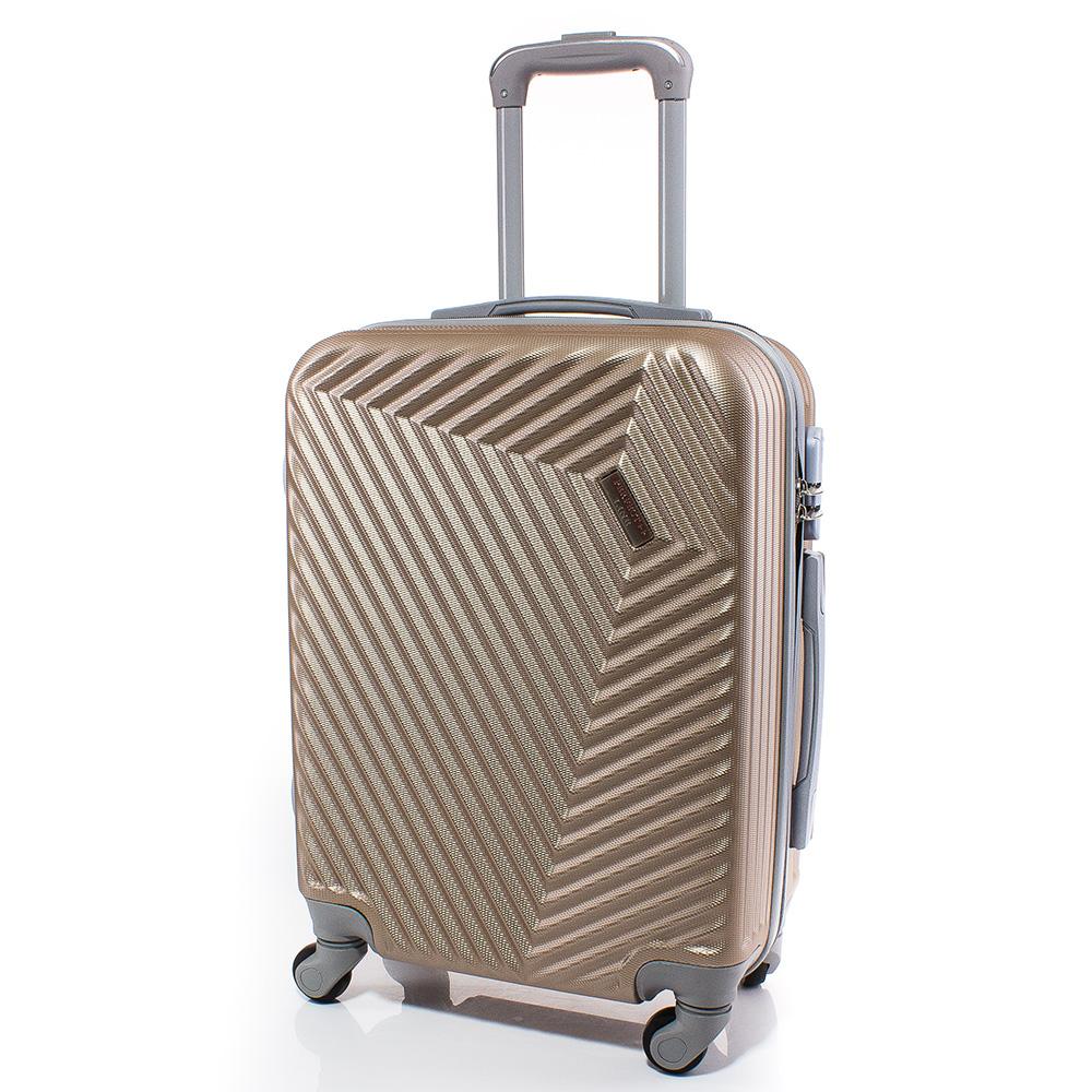 Куфар за ръчен багаж 54/39/20 с колелца 360° T1002-12 - Златист