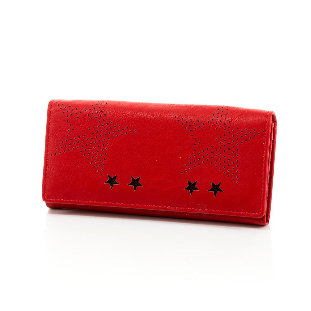 Дамско Портмоне Естествена Кожа A1032-05 - Червено