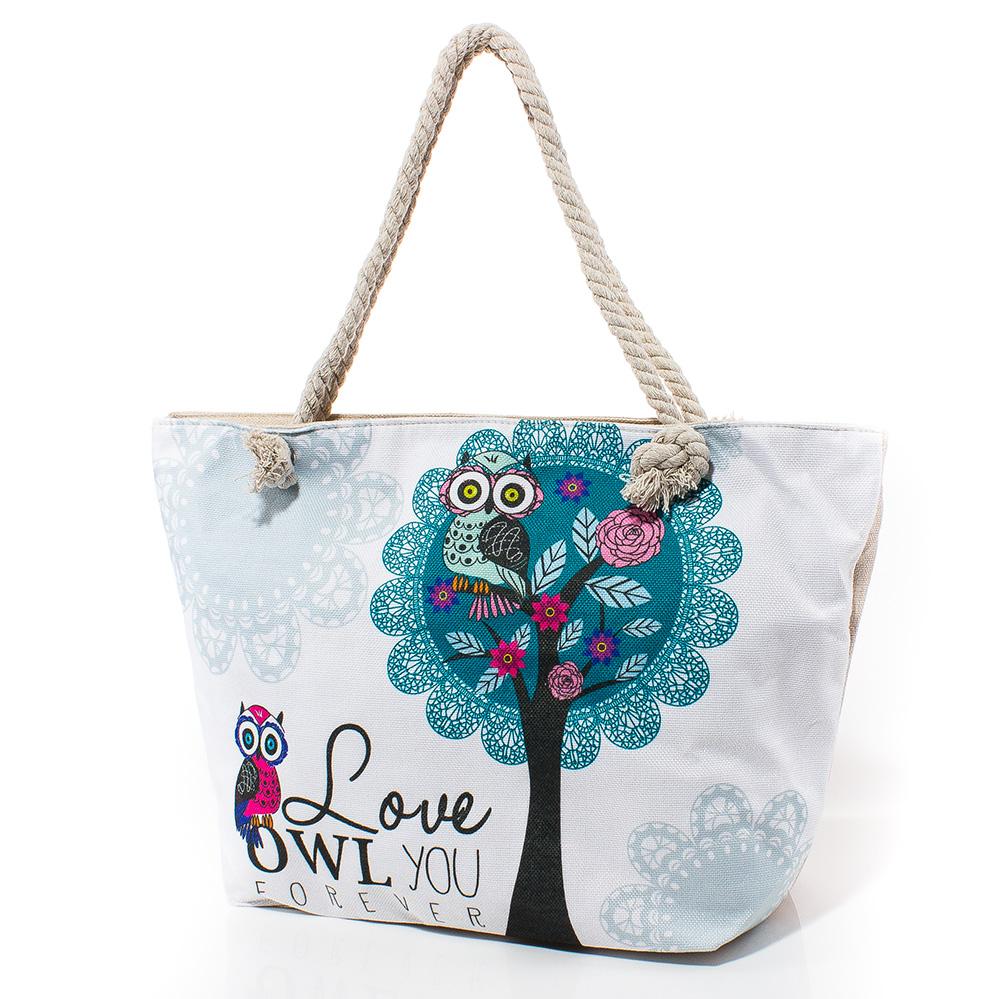 Плажна чанта 5045-01 - Бяла