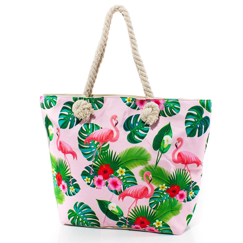 Плажна чанта 5055-07 - Розова
