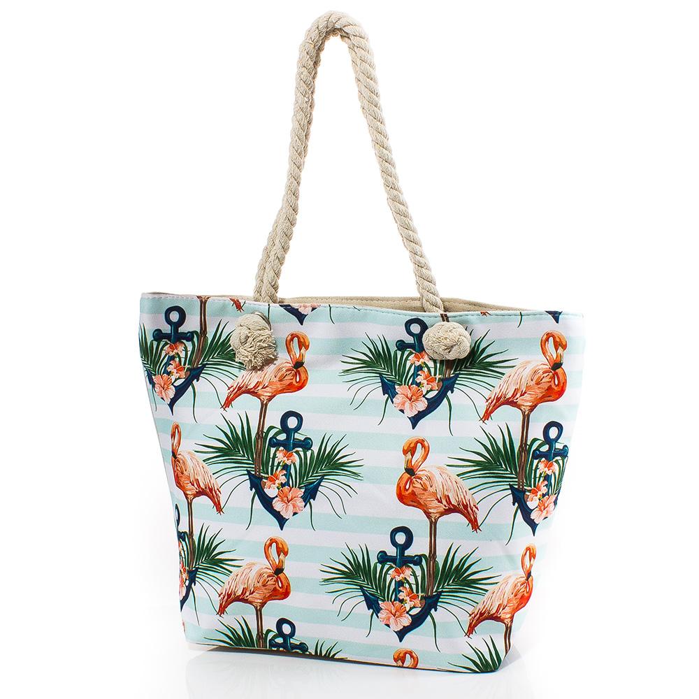 Плажна чанта 5054-50 - Бледосиня