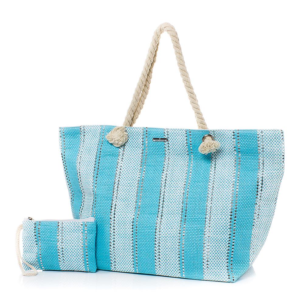Плажна чанта с Портмоне  5070-25 - Тюркоаз