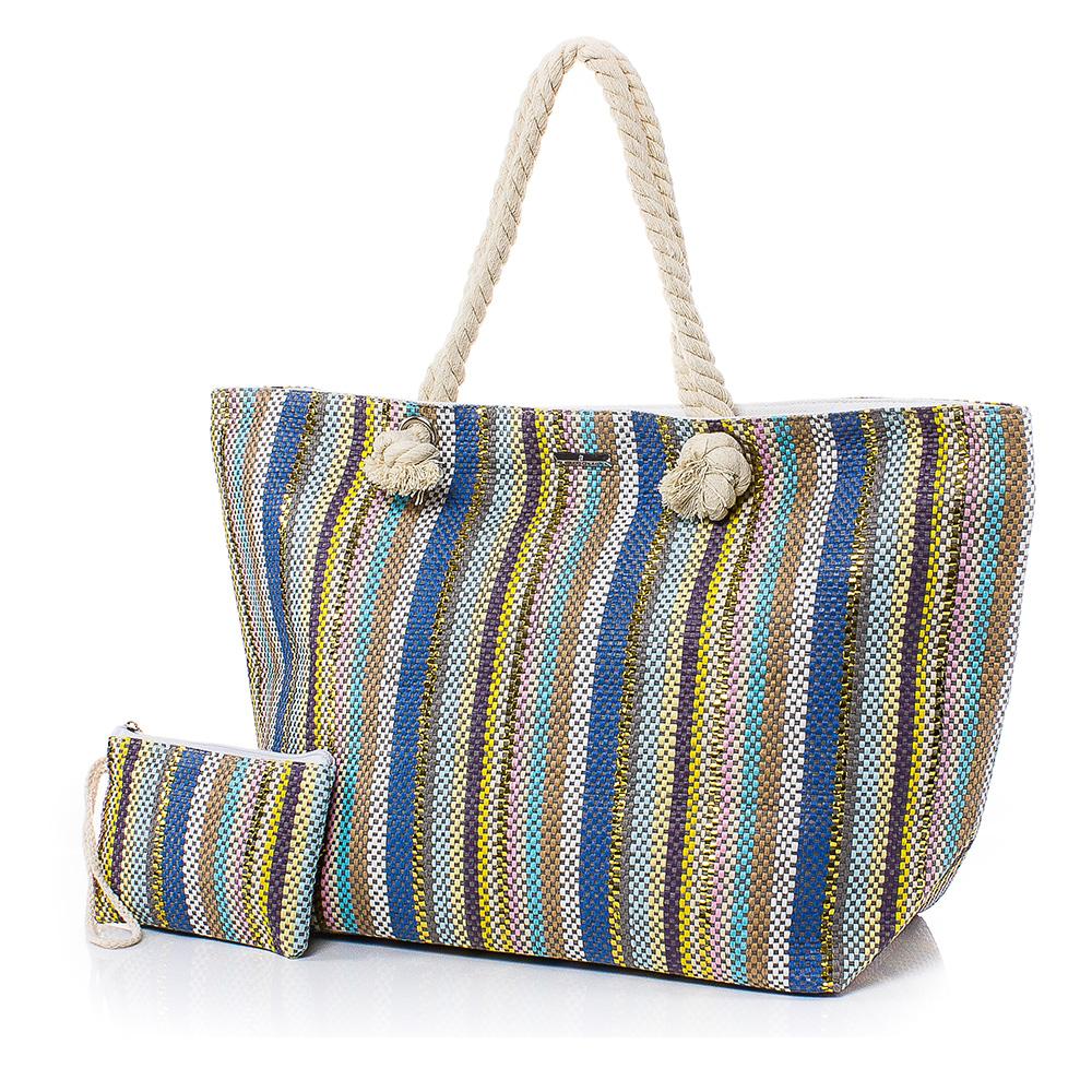 Плажна чанта с Портмоне 5070-00 - Цветен