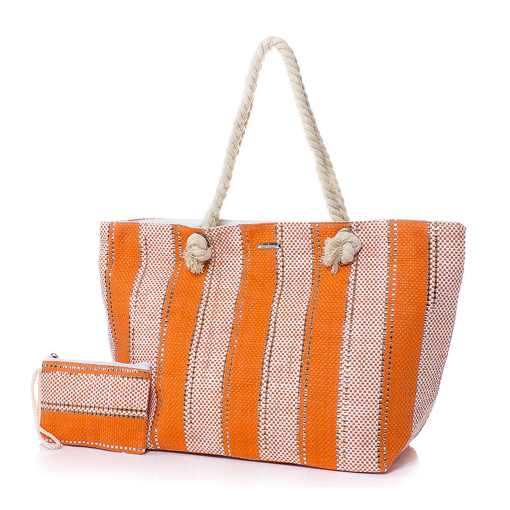 Плажна чанта с Портмоне  5070-14 - Оранжев
