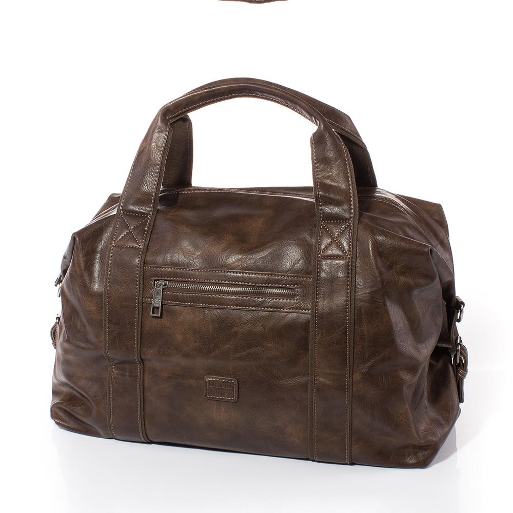 Пътна чанта David Jones CM3241-15 - Тъмно кафява