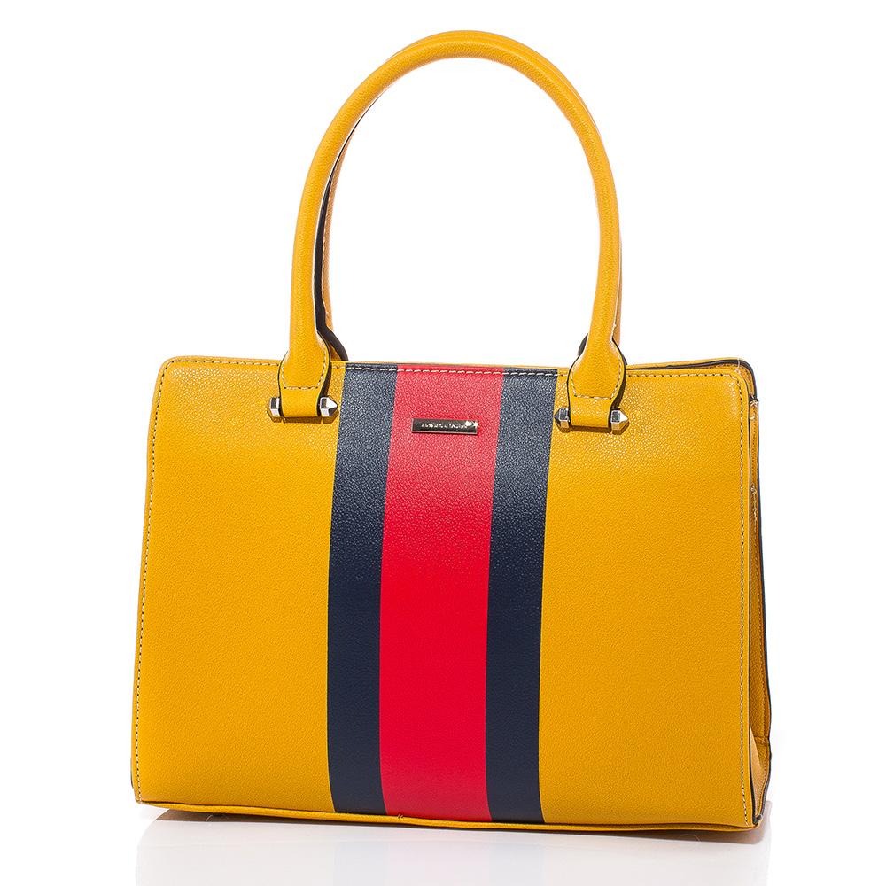 Дамска чанта David Jones 6000-249 - Горчица