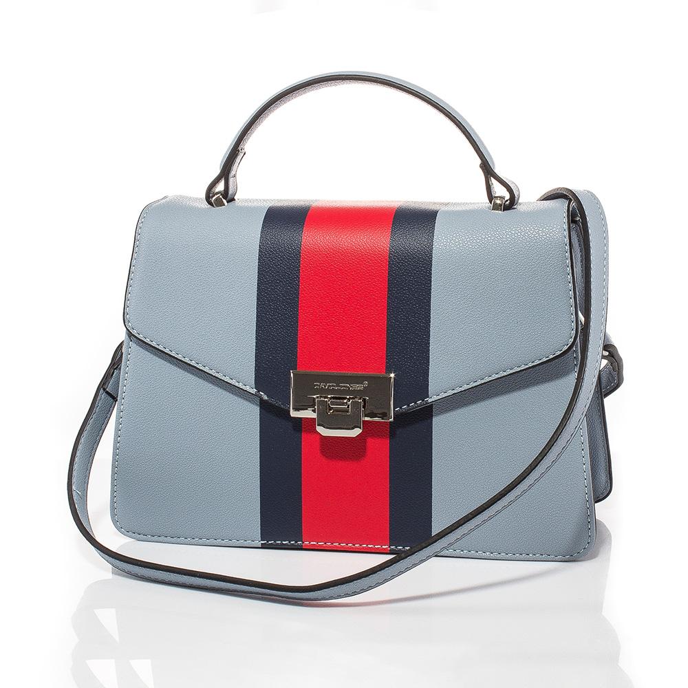 Дамска чанта през рамо David Jones 6000-150 - Бледосиня