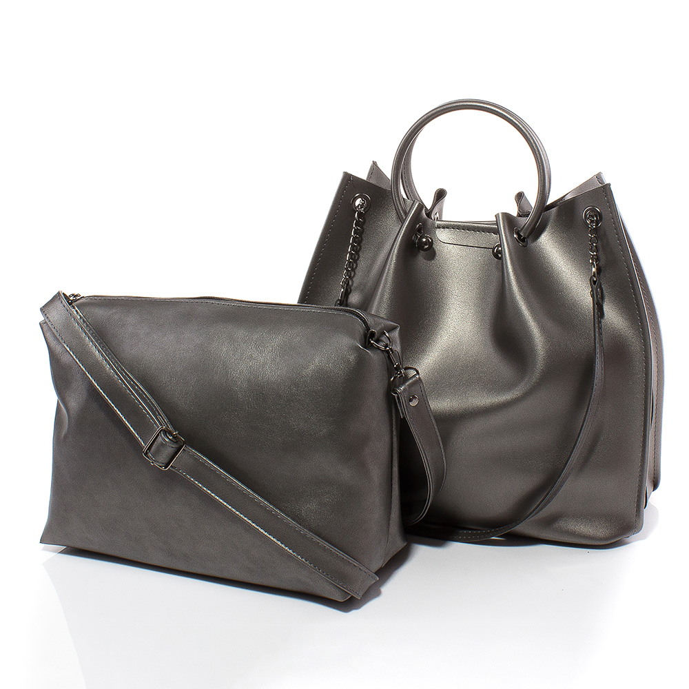 Дамска чанта Дебора 1561-47 - Тъмно сребро