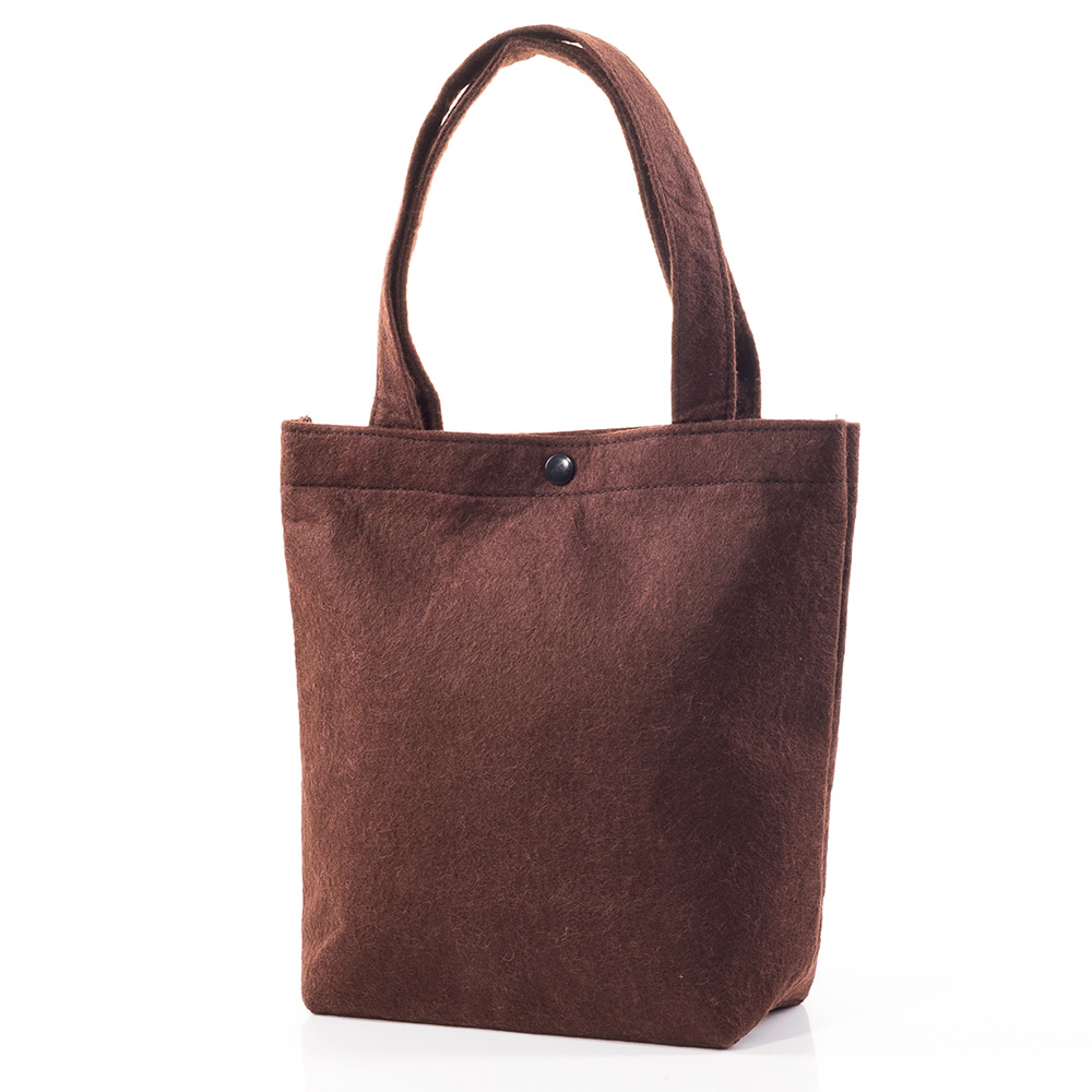 Вълнена чанта 1387-21 - Кафява