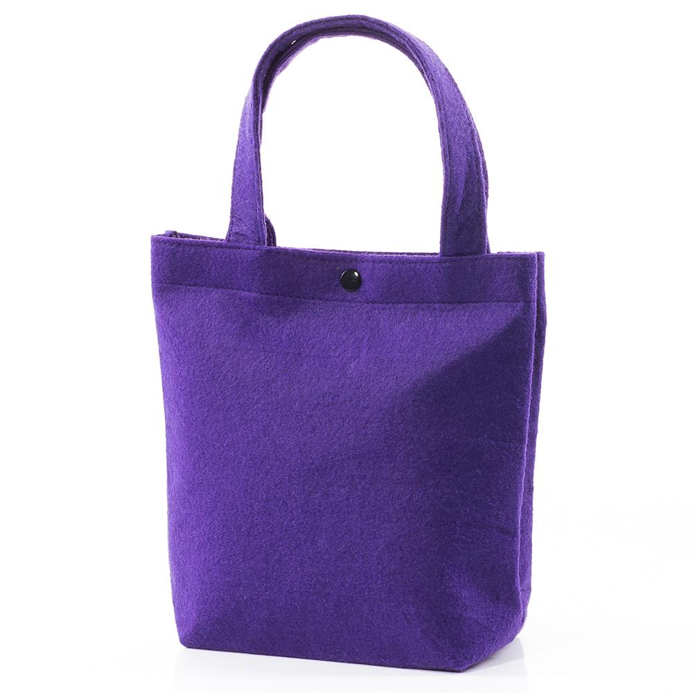 Вълнена чанта 1387-20 - Лилава