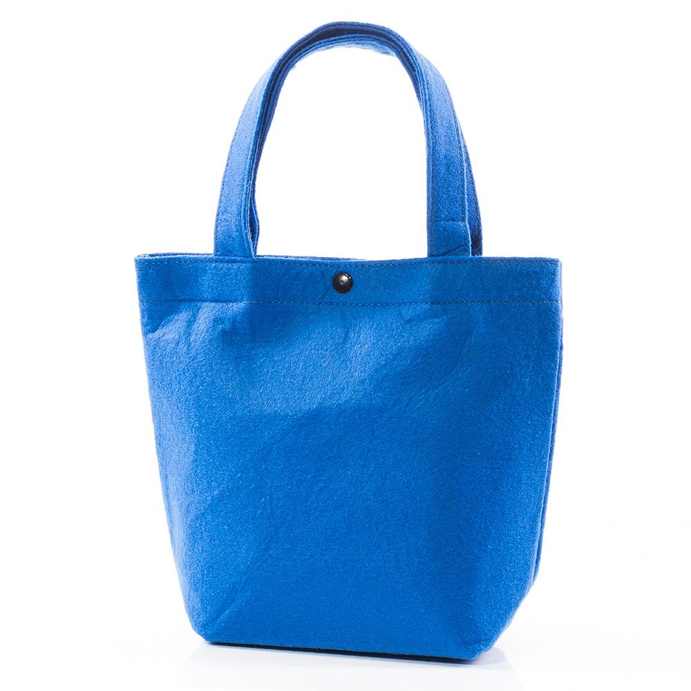 Вълнена чанта 1387-04 - Синя