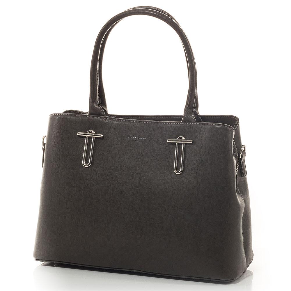 Дамска чанта David Jones 5643-134 - Тъмно сива