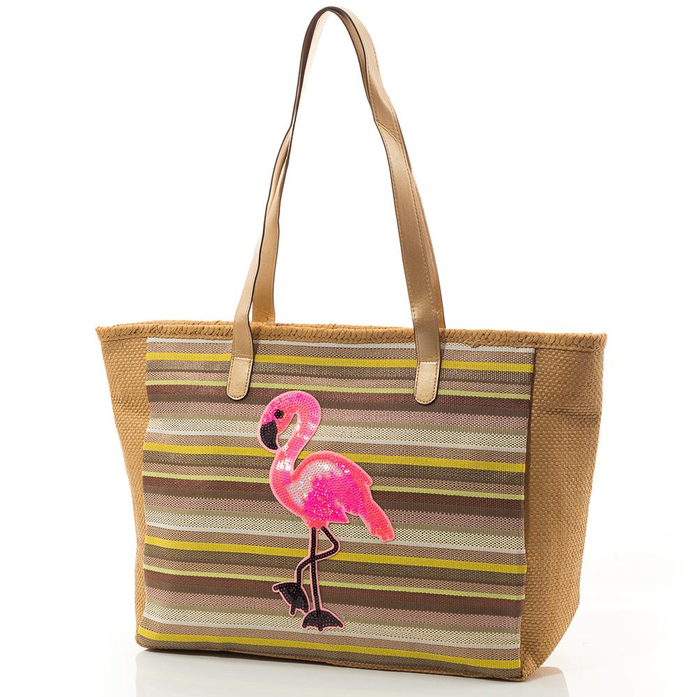 Плажна Чанта Flamingo Lux 5024-16 - Тъмно бежова
