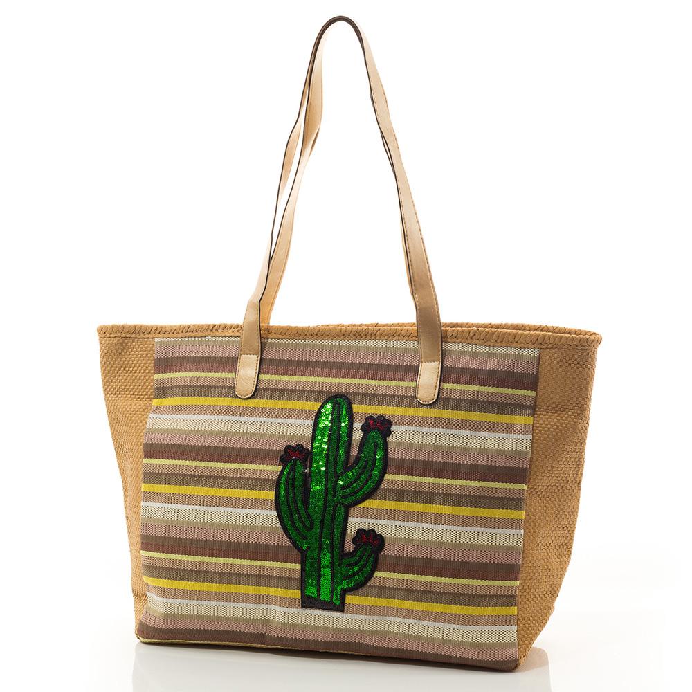 Плажна Чанта Cactus  Lux 5027-16 - Тъмно бежова